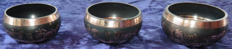 Tibet Klangschale ca 10cm  handgefertigt mit Gebetsmüh